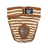 Balacoo Fille Chien Couche de Couche Motif Chiot Femelle Shorts Culottes sous-vêtements pour Menstruation Chien (Brun)