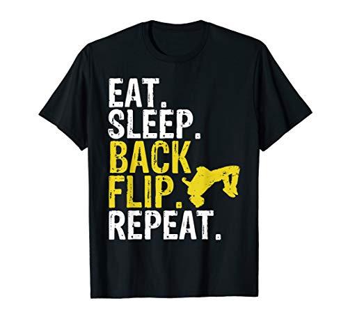 Eat Sleep Back Flip Repeat Acrobat Gymnastics Gift T-Shirt