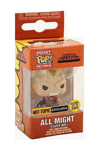 Funko Pocket Pop! My Hero Academia Silver Age All Might Glow in The Dark GITD Exclusive Keychain Keyring