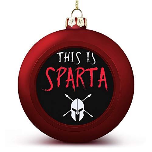 VNFDAS This Is Sparta 300 Custom Christmas ball ornaments Beautifully decorated Christmas ball gadgets Perfect hanging ball for holiday wedding party decoration
