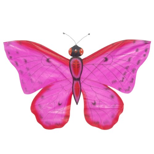 G'z Hot Pink Chinese Silk Butterfly Kite - Hand-Crated Kites for Wall Décor