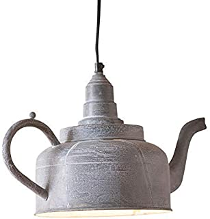 Irvin's Tinware Kettle Pendant Light 9.5