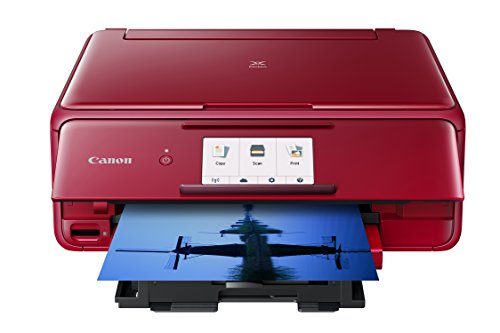 Canon Office Products TS8120 Wireless All-in-One Printer with Scanner and Copier: Mobile and Tablet Printing, with Airprint(TM) and Google Cloud Print Compatible, Red, Works with Alexa