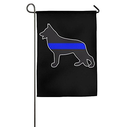 galaxy'ss;Flag German Shepherd Thin Blue Line Police K9 Graphic Outdoor/Indoor Garden Flag for Present