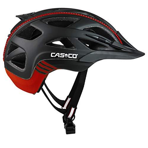 Casco Erwachsene Active 2 Fahrradhelm (Schwarz-Rot, M 56-58cm)