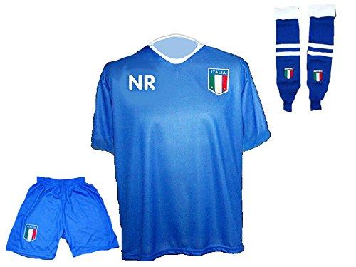Italien Trikot + Hose + Stutzen mit Wunschname + Nummer in Kinder Größe 92