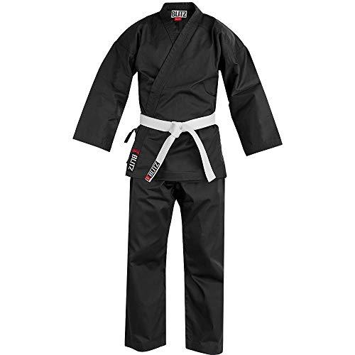Blitz Sport Adulti Policotone Studente Karate Completo Nero 3/160Cm