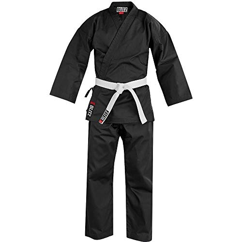 Karatepak van katoen-polyester mengweefsel, zwart, 7, 200 cm