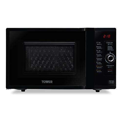 Tower KOC9C0TBKT Dual Heater Combination Oven with Microwave/Grill/Convection Oven Functions, Self-Clean, 900 W, 28 Litre, Black