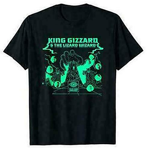 King Gizzard And The Lizard Wizard Mens T-Shirt Funny Black Cotton Tee Gift Men