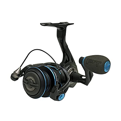 Quantum Smoke Saltwater Spinning Fishing Reel, Size 30 Reel, Changeable Right- or Left-Hand Retrieve, Continuous Anti-Reverse Clutch with NiTi Indestructible Bail, SCR Alloy Frame, Black