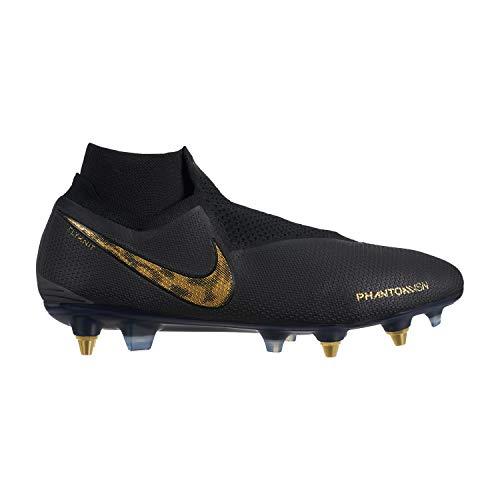 Nike Phantom VSN Elite DF SG-Pro AC Herren Football Boots AO3264 Soccer Cleats (UK 6 US 7 EU 40, Black Vivid Gold 077)