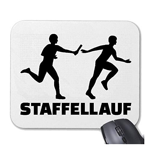 Helene Mousepad - Muismat STAFVELLAUF - HÜRDENLAUF - Jogging - 100 M LAUF - loopschoenen voor uw laptop, notebook of internet PC met Windows Linux enz.