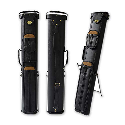 2x4 Hard Pool Cue Case 2B4S Billiard Stick Carrying Cue Case with Stand (03)
