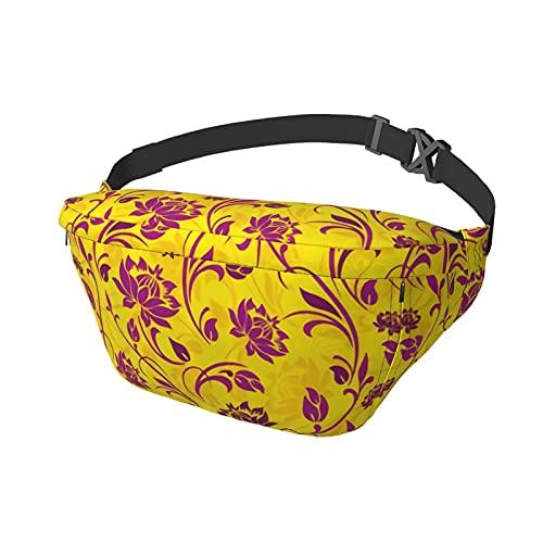 Bolsa deportiva para el pecho, bandolera, bandolera, mochila de hombro, floral, ornamental,...