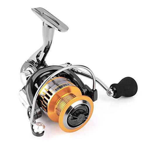 HARMILIY Carrete Pesca Carretes de spincasting, 17 + 1BB Carrete de Alumini Carrete de Pesca con Giro Rápido y Liso Carrete Giratorio Liso Ultraligero