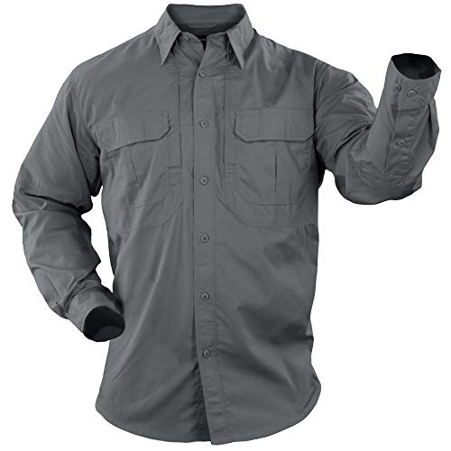 5.11 Tactical Series Taclite Pro Shirt Long Sleeve Chemise Homme, Bleu (Storm), S
