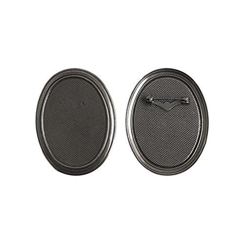 Broche de 5 pièces Taille W 5,5 x H 7 cm noir nickel