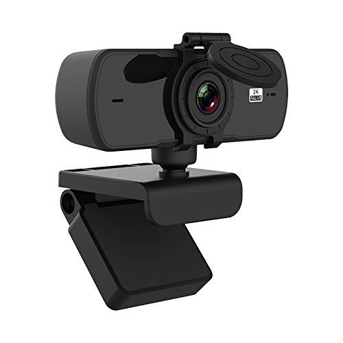 Webcam 2K HD de videoconferencia, WebClass Live Webcams con micrófono para transmisión en directo, videollamadas, conferencias, enseñanza en línea, juegos