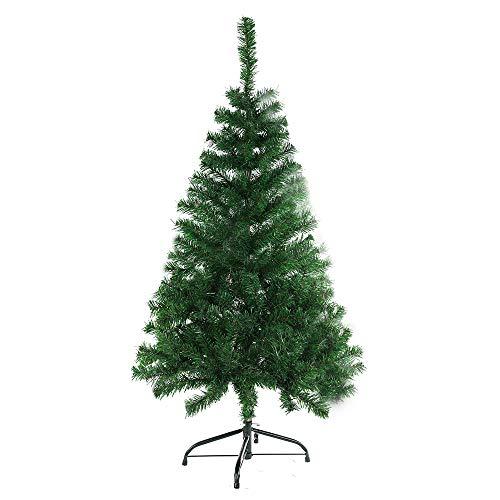 BAFYLIN Albero di Natale Artificiale Xmas Albero Natale PVC Ignifugo per Casa Parco Festa Negozio (Verde, 210CM)