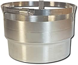 Rockford Chimney Supply Stainless Steel Chimney Appliance Adapter Connector RockFlex, Round 6 Inch