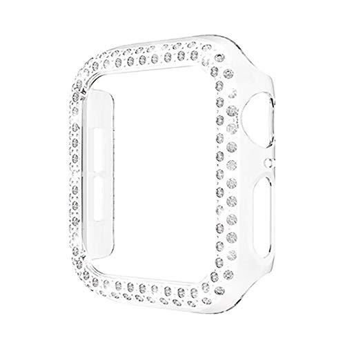 WSGGFA Cubierta de la Caja del Reloj de la Parachoques de Bling para el Reloj de Apple 5 Se 6 44mm 40 mm Funda Protectora de Diamante para iWatch 4 3 2 1 Accesorios 42mm38mm