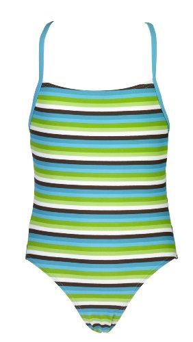 Landora® gestreepte meisjes Tankini in rood/turquoise/wit - Oeko-Tex® Standard 100
