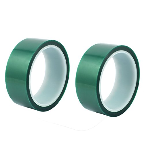 Aexit 2 Stück 35mm Breite 33M Länge Grünes HAUSTIER Selbstklebeband Hochtemperaturhitzebeständig (4b1e9a7c82ad168608f59ed6b4b5aa84)