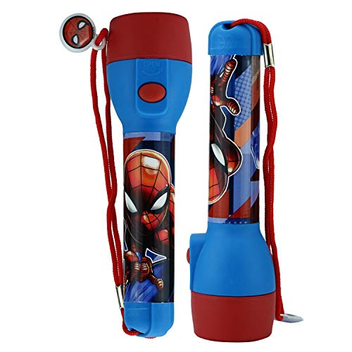 SRV Hub® Kids LED Flash Light Torch for Characters Lovers Bright Night Toy Xmas Gift and Brightly Colored Torches for Kids Spiderman Big Torch.