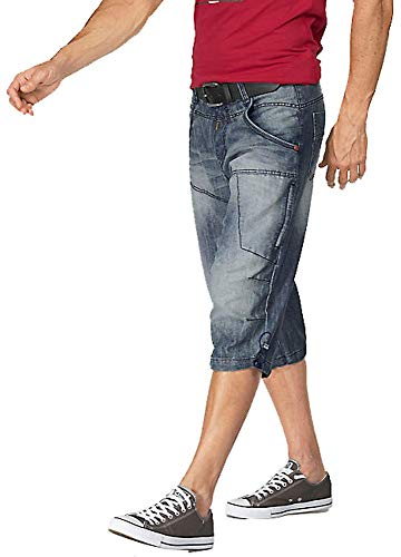 Timezone Herren Jeans Bermudas (Blue Ocean, W30)