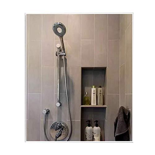 Espejo de pared con marco de metal |Espejo de baño rectangular grande...