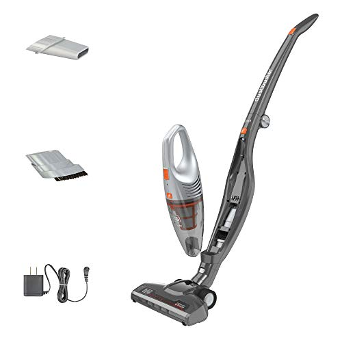 BLACK+DECKER POWERSERIES Cordless Stick Vacuum Cleaner & Hand Vac, 2-in-1, Titanium Gray (HSVB420J)