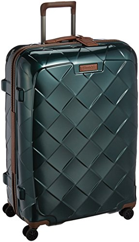 [ストラティック] スーツケース ジッパー レザー&モア 大型 グッドデザイン賞 保証付 100L 75 cm 4.36kg ダークグリーン