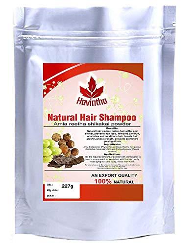 Havintha Hair Shampoo With Amla, Reetha and Shikakai Powder, 227 g