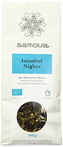 Samova Istanbul Nights Refill - Bio-Schwarztee/Minze 100g, 1er Pack (1 x 100 g)