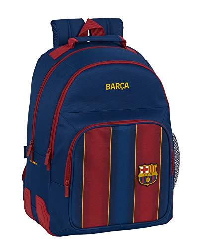 Safta 612029773 Mochila doble con cantoneras adaptable a carro FC Barcelona