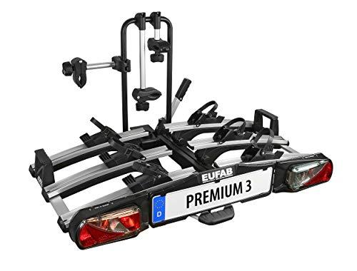 """Eufab 11522 Heckträger \""""Premium III\"""" für Anhängekupplung klappbar 3 Fahrräder, für E-Bikes geeignet"""