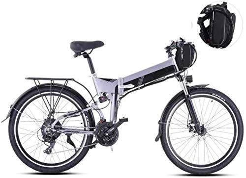 Leifeng Tower Alta Velocidad Bicicletas 26 Pulgadas eléctricos, 21 Velocidad Montaña Boost Bicicletas Instrumento LCD for Adultos Bici Deportes al Aire Libre (Color : Gray)