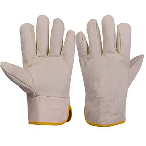 ZhuFengshop handschoenen lassen handschoenen, lassers gauntlets open haard handschoenen hoge temperatuur BBQ kachel lange gevoerde tuin lassers lederen handschoenen beschermen uw armen beschermende handschoenen, werk, boerderij