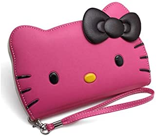 Galaxy Note 10 +Plus, Galaxy Note 10 +Plus 5G (6.8) Hello Kitty 3D Wallet Case for Samsung Galaxy Note 10 +Plus,Galaxy Note 10 + Plus 5G (6.8) - Hot Pink Face