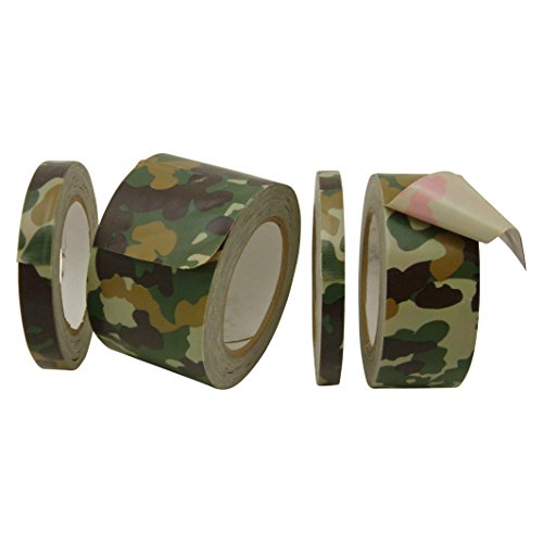J.V. Converting CAM-01/WGRN1525 JVCC CAM-01 - Nastro adesivo mimetico di alta qualità: 1-1/2' x 75 m, verde foresta