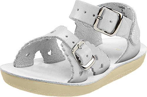 Salt Water Sandals by Hoy Shoe Sweetheart Dress Sandal (Toddler/Big Kid),Shiny Silver,6 M US Toddler
