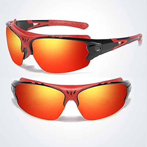 Lesinmal Gafas De Sol Deportivas Polarizadas, Gafas De Sol Deportivas Polarizadas UV400 para Hombres, Mujeres, Ciclismo, Conducción, Conducción (A)