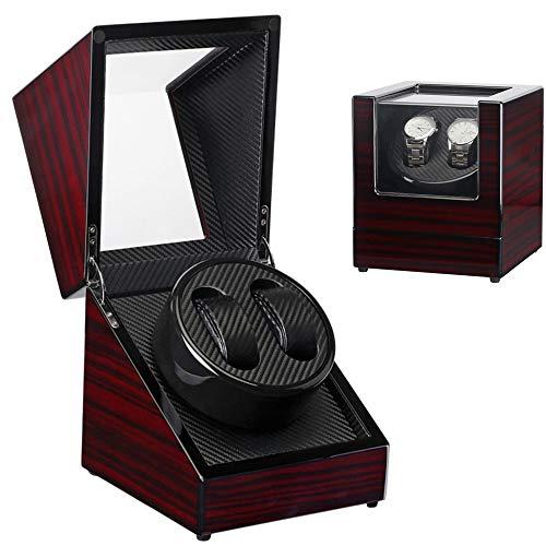 Aiwer Devanadera de Reloj Doble, vibrador automático, Caja de Reloj de Cuerda automática, Caja de rotores de Reloj de Cuerda automática, Alto Acabado Brillante