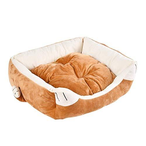 ZHAS Weiches und warmes Nest-rutschfestes Hundekatzenbett, bequemes und bequemes Schlafsack-Auflage-Auflage, Katzen-Hundebett, einfach zu säubern, Katze und Hunduniversalität, Herbst und Winter w