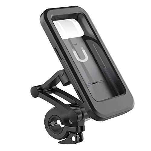 Shiwaki 360 ° rotación bicicleta teléfono bolsa impermeable tubo bolsa pantalla táctil teléfono funda encaja por debajo de 6,7 pulgadas-Bolsa de