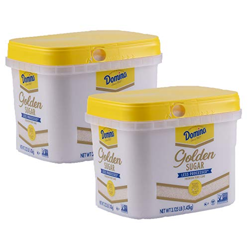 Domino Golden Granulated Sugar, 3.125 LB Easy Baking Tub (Pack of 2)