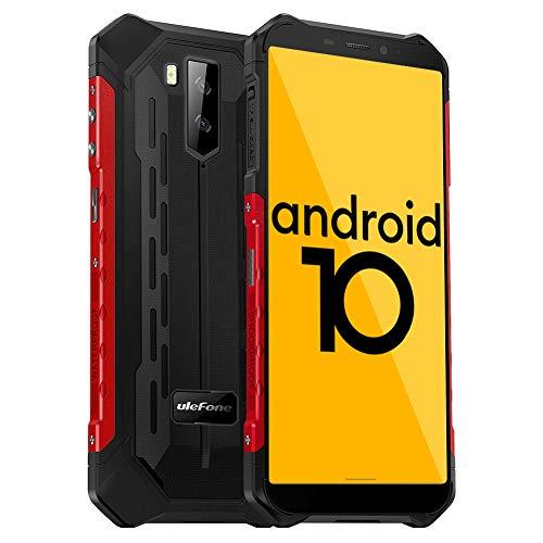 Ulefone Armor X5 Outdoor Handy - Android 10.0 Rugged Smartphone IP68/IP69K Wasserdicht Stoßfest Staubdicht Mobiltelefon Dual SIM 4G 3GB RAM 32GB ROM 5,5-Zoll-Bildschirm 5000mAh Akku (Rot)