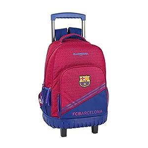 41KcbOKaYUL. SS300  - FC Barcelona Corporativa Oficial Mochila Escolar Grande Con Ruedas 320x140x460mm