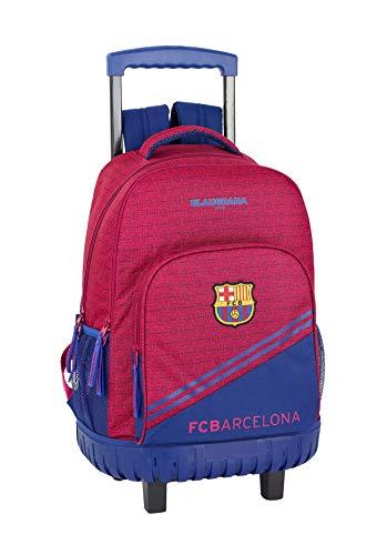 41KcbOKaYUL - FC Barcelona Corporativa Oficial Mochila Escolar Grande Con Ruedas 320x140x460mm
